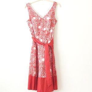 Jones Studio V-Neck Dress Red 14W